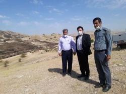بازدید دادستان مسجدسلیمان از مناطق آتش سوزی اخیر در مراتع شهرستان